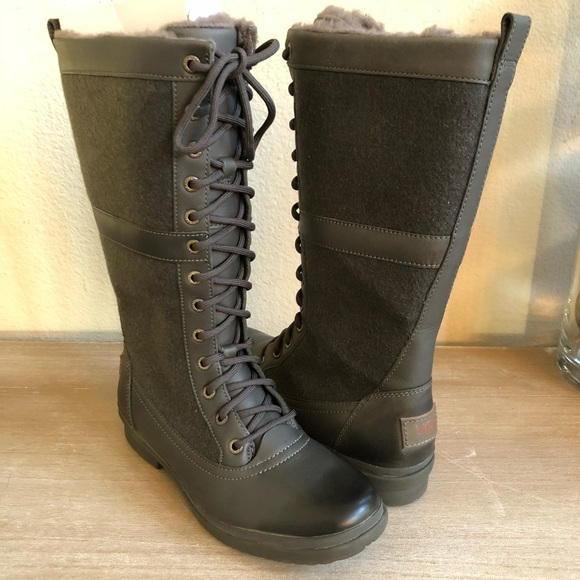 42df68b96d5 UGG Elvia Tall Lace-Up Waterproof Snow Boot NWT
